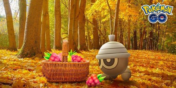 Autumn-themed promotional Pokémon GO poster. Credit: Niantic