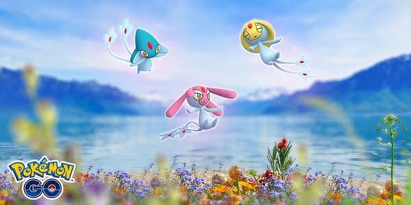The Regional Lake Trio Legendaries in Pokémon GO. Credit: Niantic