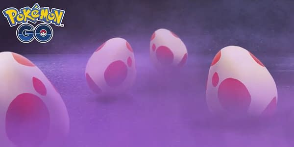 Strange Eggs promotional graphic in Pokémon GO. Credit: Niantic