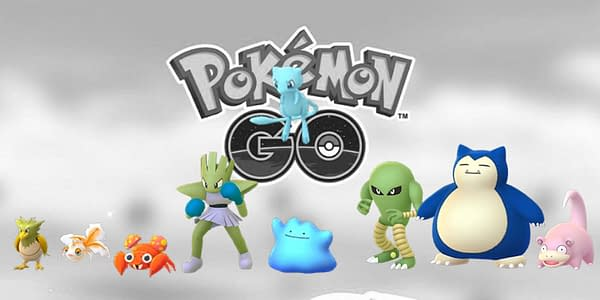Unreleased Shiny species set over the Pokémon GO logo. Credit: Niantic