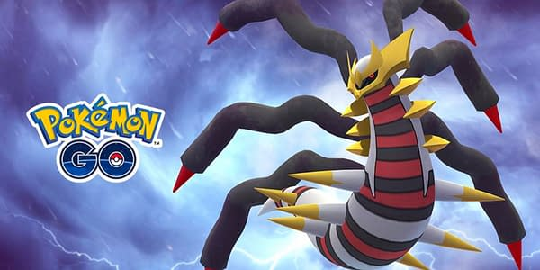 Promotional image for Giratina Origin Forme in Pokémon GO. Credit: Niantic