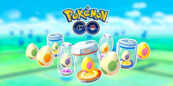 Promotional graphic of Eggs in Pokémon GO. Credit: Niantic