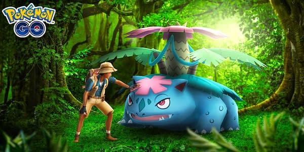 Mega Venusaur promotional image in Pokémon GO. Credit: Niantic