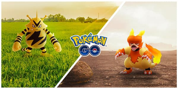 Electabuzz & Magmar Community Days promotional graphic in Pokémon GO. Credit: Niantic