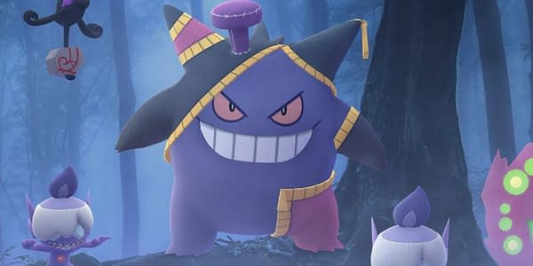 Costume Gengar promotional image in Pokémon GO. Credit: Niantic