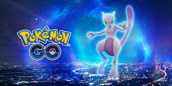 Mewtwo promotional image for Pokémon GO. Credit: Niantic
