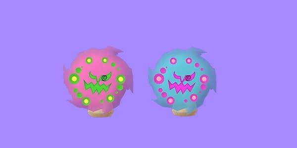 Regular and Shiny Spiritomb comparison in Pokémon GO. Credit: Niantic