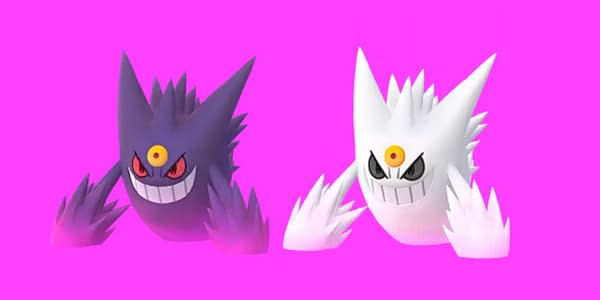Mega Gengar regular and Shiny comparison in Pokémon GO Players. Credit: Niantic
