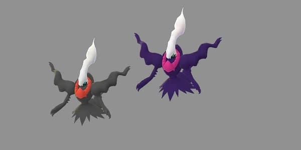 Darkrai and Shiny Darkrai comparison. Credit: Niantic