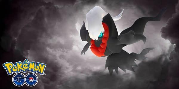 Darkrai promotional image in Pokémon GO. Credit: Niantic