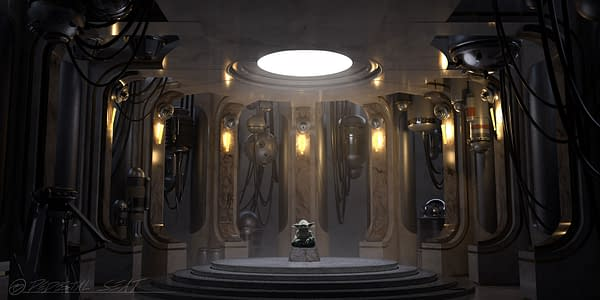 What could Yoda possibly be doing in this room alone? Courtesy of ILMxLAB.