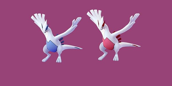 Regular and Shiny Lugia comparison in Pokémon GO. Credit: Niantic
