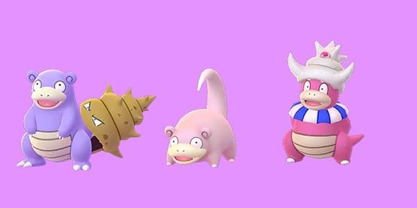 Shiny Slowpoke family in Pokémon GO. Credit: Niantic