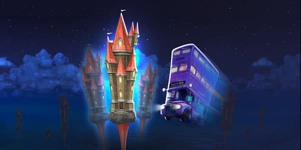 Knight Bus in Harry Potter: Wizards Unite. Credit: Niantic