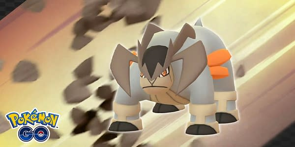 Terrakion in Pokémon GO. Credit: Niantic