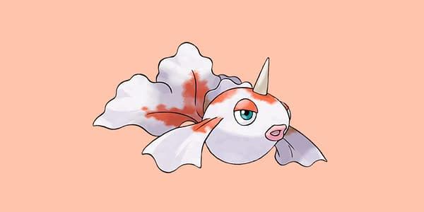 Goldeen official artwork. Credit: Pokémon Company International