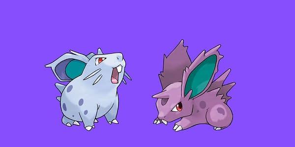 Nidoran F & M official art. Credit: Pokémon Company International