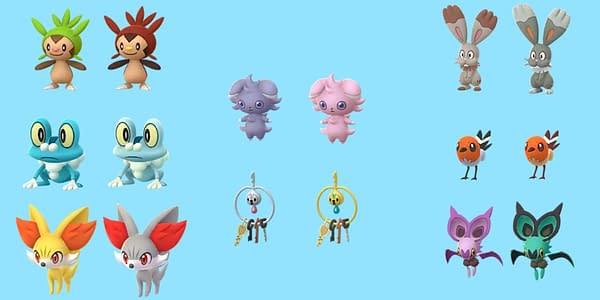 Comparison of regular and Shiny Kalos Pokémon. Credit: Niantic