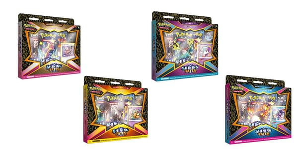 Shining Fates Mad Party Pin Collections. Credit: Pokémon TCG