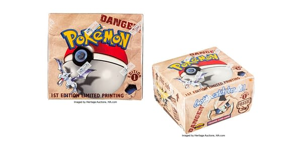 Pokémon TCG Fossil booster box. Credit: Heritage Auctions