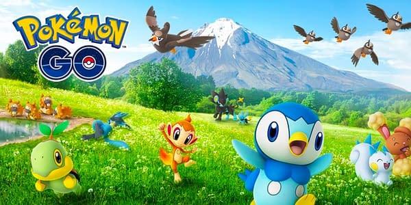 Sinnoh promo in Pokémon GO. Credit: Niantic