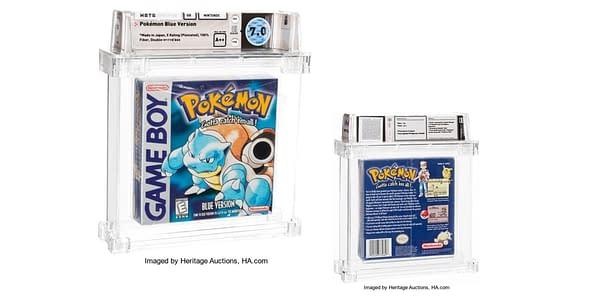Pokémon Blue game. Credit: Heritage Auctions