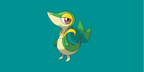 Official work of art Snivy.  Credit: The Pokémon Company International