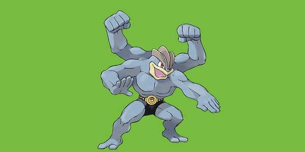 Machamp official artwork. Credit: Pokémon Company International