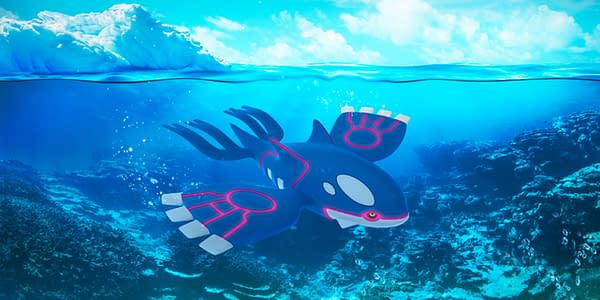 Kyogre in Pokémon GO. Credit: Niantic