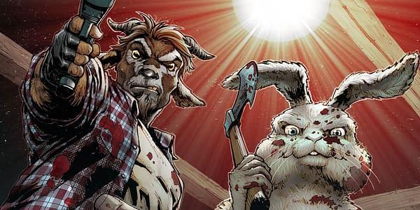 Man Goat & the Bunny Man artwork. Credit: Zenescope