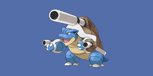 Mega Blastoise official artwork. Credit: The Pokémon Company