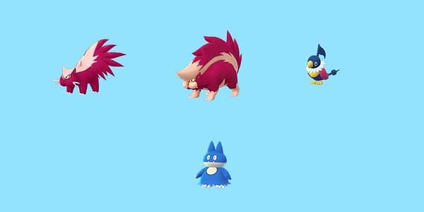 Sinnoh Shinies and Pokémon GO.  Credit: Niantic
