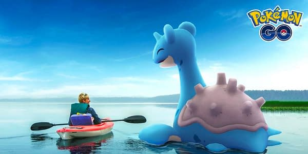 A trainer and a Lapras in Pokémon GO. Credit: Niantic