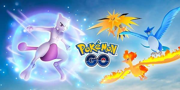 Mewtwo & the Kanto Birds in Pokémon GO. Credit: Niantic