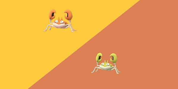 Krabby regular and Shiny comparison in Pokémon GO. Credit: Niantic