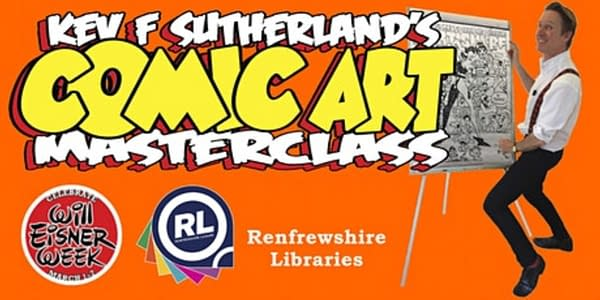 Kev F Sutherland Runs Free Comic Art Masterclasses On Wednesday