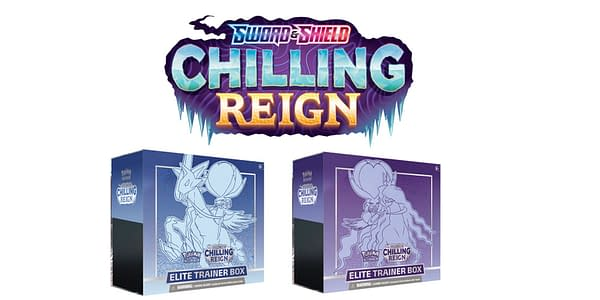 Chilling Reign logo and Elite Trainer Boxes. Credit: TPCI