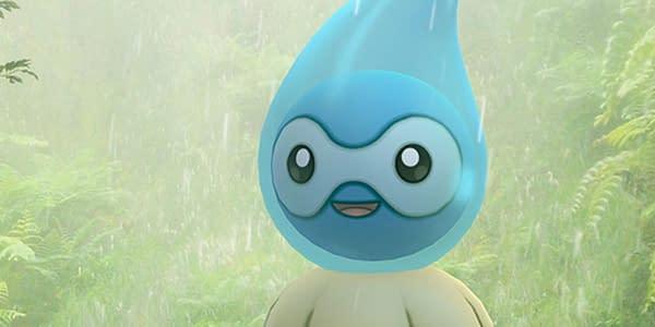 Rainy Castform in Pokémon GO. Credit: Niantic