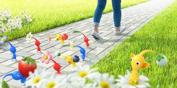 The first game will be designed to make walking fun along with the Pikmin franchise. Courtesy of Niantic.