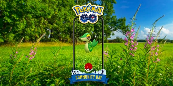 Snivy Community Day graphic in Pokémon GO. Credit: Niantic
