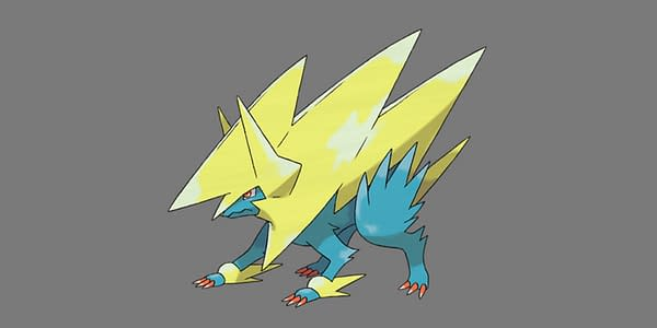 Mega Manectric official artwork. Credit: Pokémon Company International