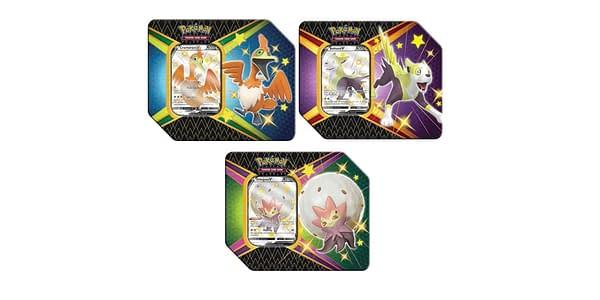 Shining Fates tins. Credit: Pokémon TCG