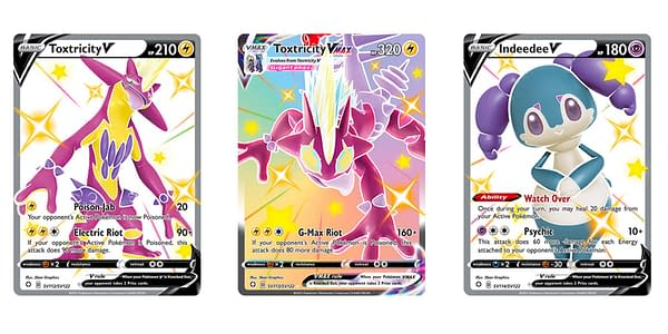 Pokémon Cards of Shining Fates. Credit: Pokémon TCG