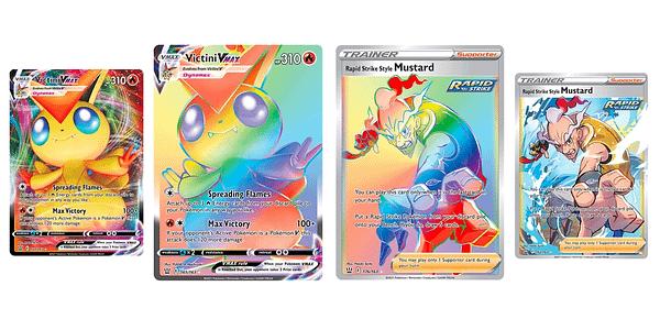 Rainbow Rares in Pokémon TCG. Credit: TPCI