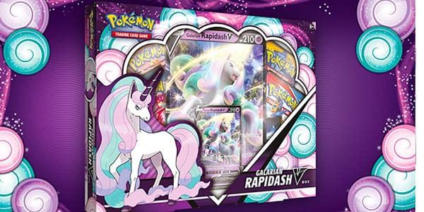 Galarian Rapidash V box. Credit: Pokémon TCG.