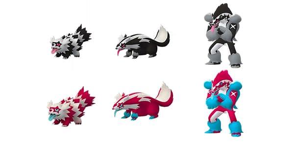 Galarian Zigzagoon line in Pokémon GO. Credit: Niantic