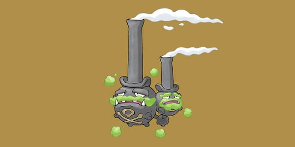 Galarian Weezing official art. Credit: Pokémon Company