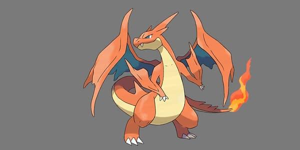 Mega Charizard Y official artwork. Credit: Pokémon Company