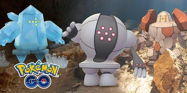 Regice, Registeel, & Regirock in Pokémon GO. Credit: Niantic