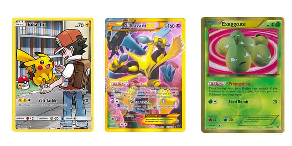 Pokémon TCG's previous secret rares. Credit: TPCI